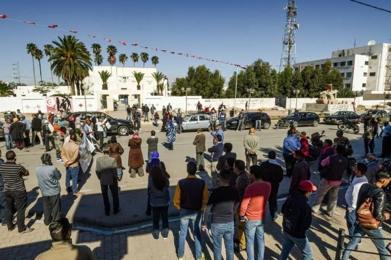 People took to the streets of Sidi Bouzid again this October, to demand stable employment, as the ten year anniversary of the revolution approached