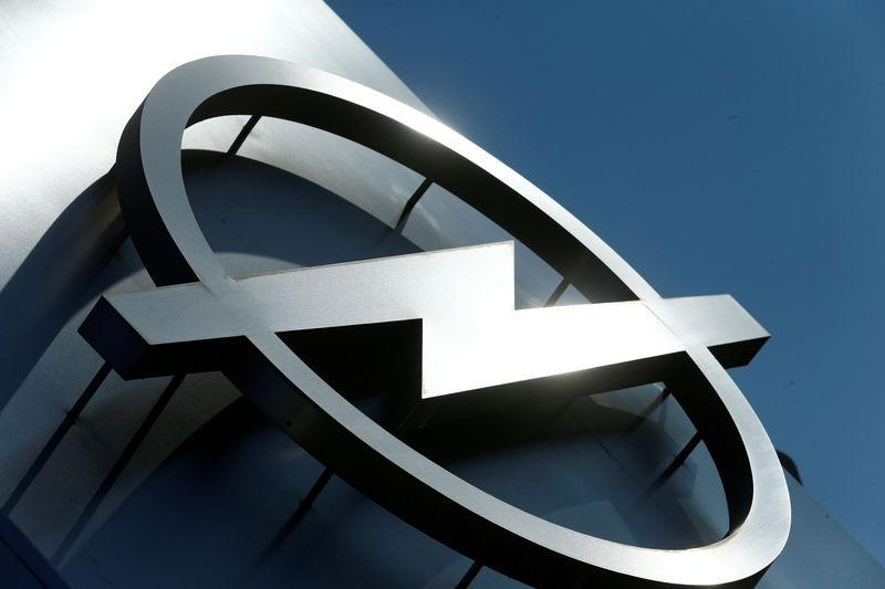 FILE PHTO: The logo of German car manufacturer Opel is pictured at the company headquarters in Ruesselsheim