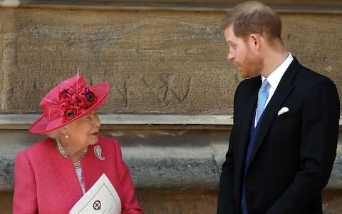 <span>The Queen and her grandson pictured together in May 2018</span> <span>Credit: AFP </span>