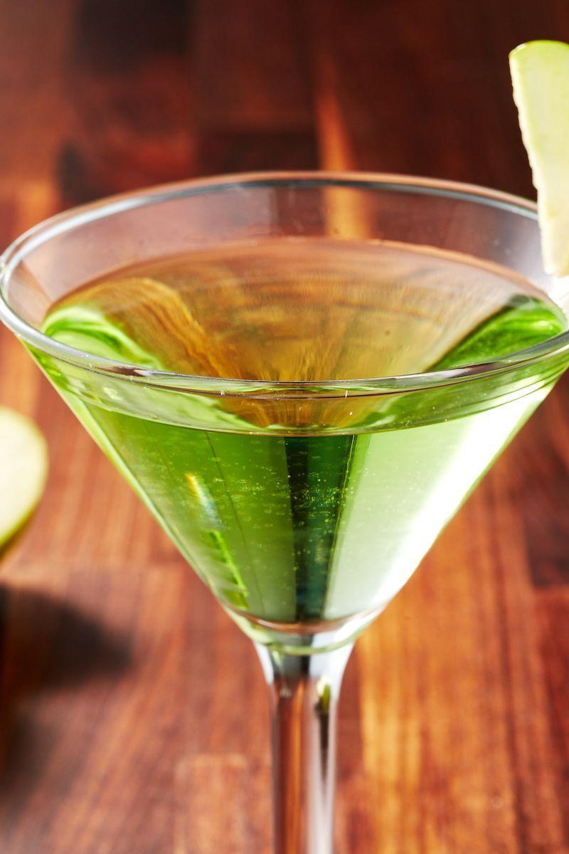 """<p>We think this drink, possibly immortalised by <a href=""""https://www.youtube.com/watch?v=wvNvG2krOYw"""" rel=""""nofollow noopener"""" target=""""_blank"""" data-ylk=""""slk:Scrubs character J.D."""" class=""""link rapid-noclick-resp"""">Scrubs character J.D.</a>, is wildly underrated. Think of it as a friendlier martini—it's still 100% booze, and very vodka-forward, but it's got a bit more going on. Apple schnapps brings sweet-tart green apple flavour, while a splash of calvados (apple brandy) gives it a fiery kick. Warning: these babies are STRONG, so don't plan on going anywhere after consuming. 😂 </p><p>Get the <a href=""""https://www.delish.com/uk/cocktails-drinks/a33122296/appletini-apple-martini-recipe/"""" rel=""""nofollow noopener"""" target=""""_blank"""" data-ylk=""""slk:Appletini"""" class=""""link rapid-noclick-resp"""">Appletini</a> recipe. </p>"""