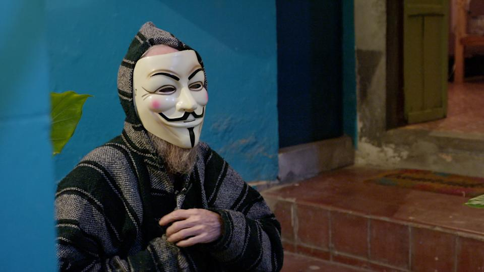 The Guy Fawkes mask is an iconic symbol of the Anonymous movement, recognized all over the world. The film explores the origin story of Anonymous and gives us the true reason of why this mask was chosen.