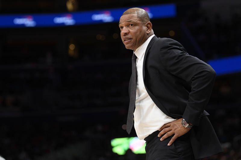 Philadelphia 76ers head coach Doc Rivers