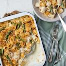 """<p>This vegan mac 'n' cheese is just as good as the cheese-loaded real thing. We're talking proper comfort food! Loaded with British <a href=""""https://www.delish.com/uk/cooking/recipes/g32433766/asparagus-recipes/"""" rel=""""nofollow noopener"""" target=""""_blank"""" data-ylk=""""slk:asparagus"""" class=""""link rapid-noclick-resp"""">asparagus</a>, red pesto and lots of garlic, this is the ultimate (no) cheese dinner. </p><p>Get the <a href=""""https://www.delish.com/uk/cooking/recipes/a36208831/vegan-mac-n-cheese/"""" rel=""""nofollow noopener"""" target=""""_blank"""" data-ylk=""""slk:Vegan Mac 'N' Cheese"""" class=""""link rapid-noclick-resp"""">Vegan Mac 'N' Cheese</a> recipe.</p>"""