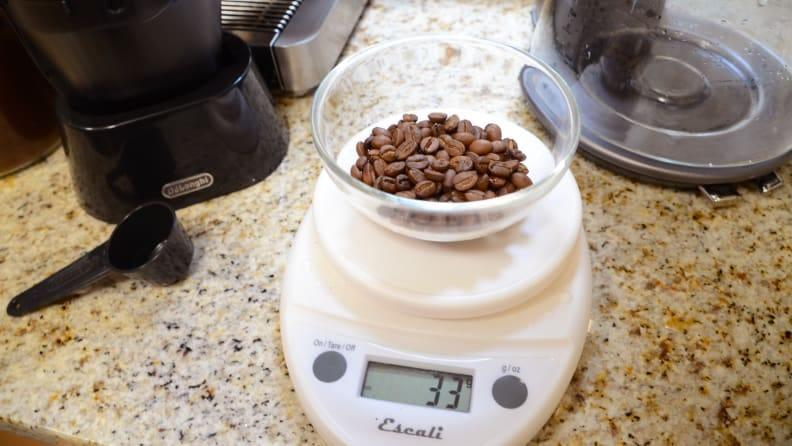 Although we recommend using freshly roasted beans, ground coffee can work as well.