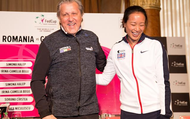 <span>Nastase made a crude remark to Keothavong during the Fed Cup tie</span> <span>Credit: Getty Images </span>