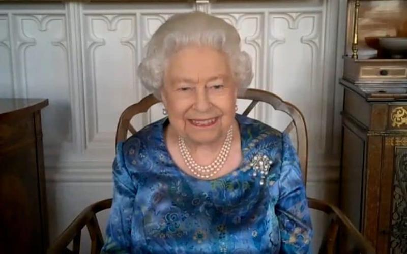 The Queen proves herself a dab hand at video calling