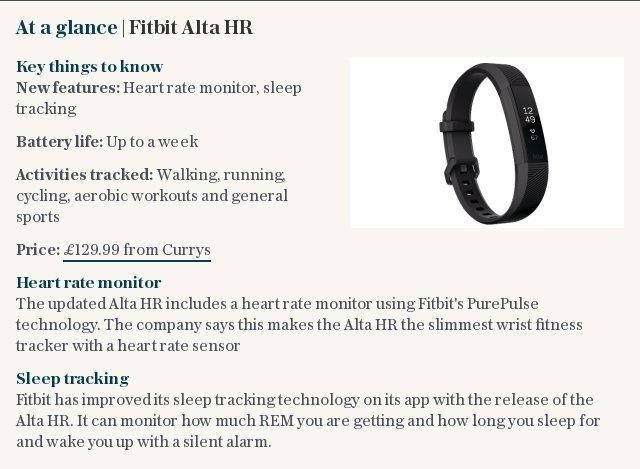 At a glance | Fitbit Alta HR