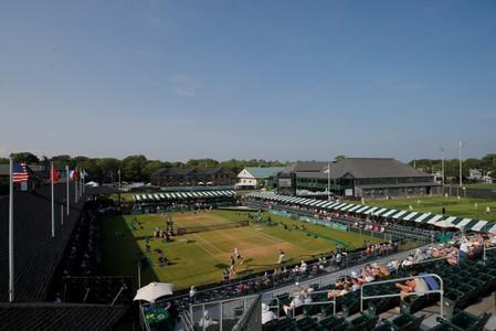 Isner and Humbert compete in a semi-final of the Hall of Fame Open in Newport