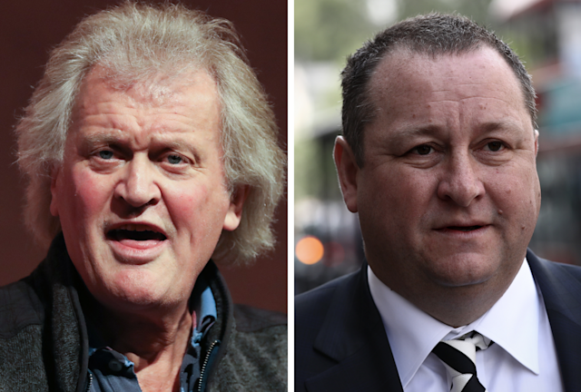 JD Wetherspoon founder and chairman Tim Martin, left, and Sports Direct founder and chief executive Mike Ashley. (Daniel Leal-Olivas/AFP via Getty Images/Carl Court/Getty Images)