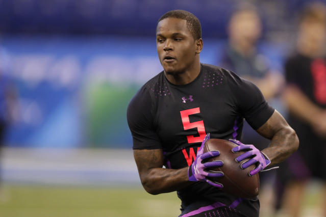 Antonio Callaway, one of the draft's top receiver talents, further hurt his stock with a reported failed drug test at the NFL combine. (AP)