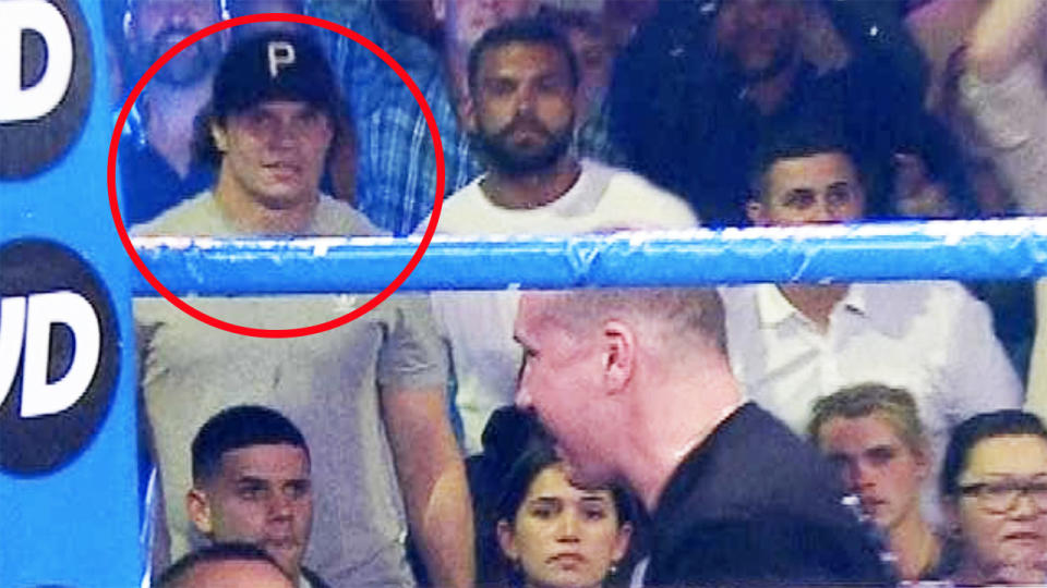 James Roberts, pictured here watching Tim Tszyu's fight against Dennis Hogan.
