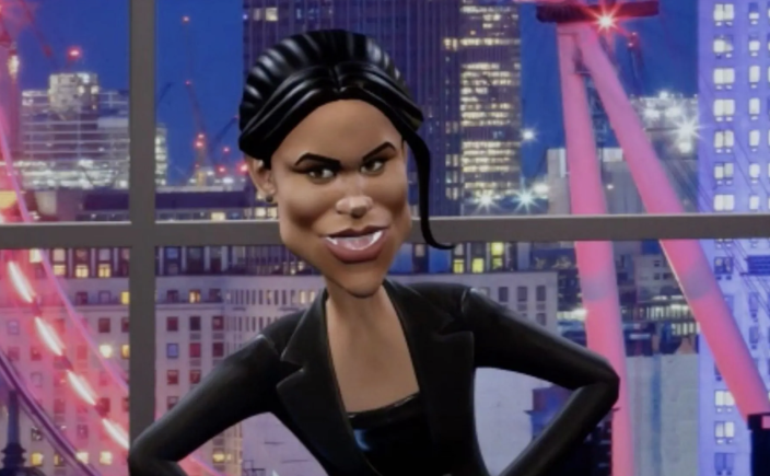 The upcoming segment, will feature on spoof program Tonight With Vladimir Putin, where the Duchess of Sussex was portrayed as 'trailer trash' who threatens to attack Kate Middleton. [Photo: BBC]
