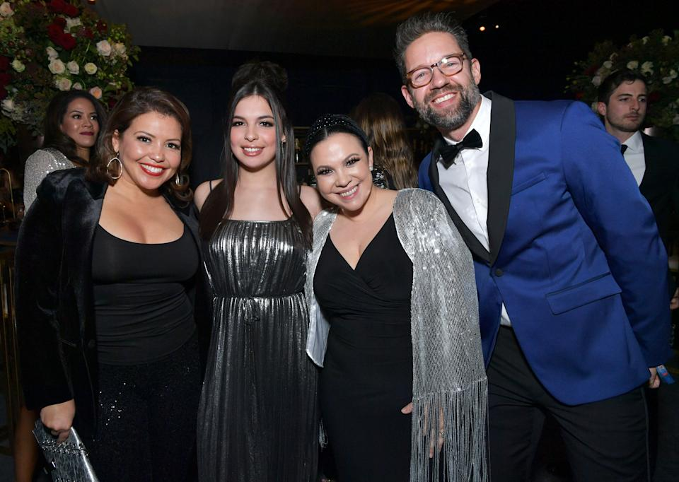 (Left to right) Justina Machado, Isabella Gomez, Gloria Calderon Kellett and Todd Grinnell attend the Netflix 2020 Golden Globes After Party on January 5, 2020, in Los Angeles. (Photo: Emma McIntyre via Getty Images)