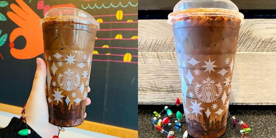 Starbucks Seasonal Drinks Calendar 2022.This Hot Cocoa Cold Brew From The Starbucks Secret Menu Is Our New Holiday Obsession