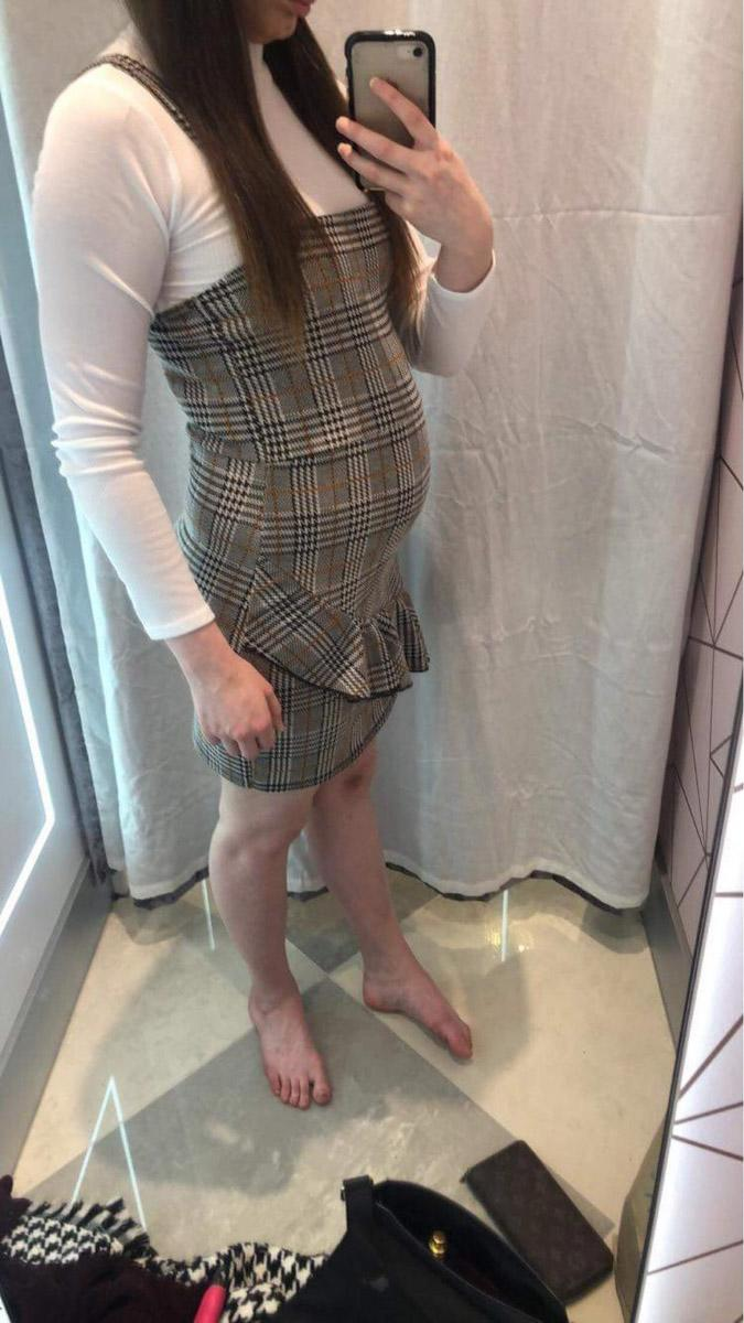 A young woman is always mistaken for being pregnant due to BLOATING caused by a crippling condition. Abbie Eckert, 24, suffers from endometriosis, where tissue similar to the lining of the womb starts to grow in other places, such as the ovaries and fallopian tubes. It also causes the education skills worker to have a 'pregnant-looking stomach,' a symptom Abbie says is beginning to have an affect on her mental health and body confidence.