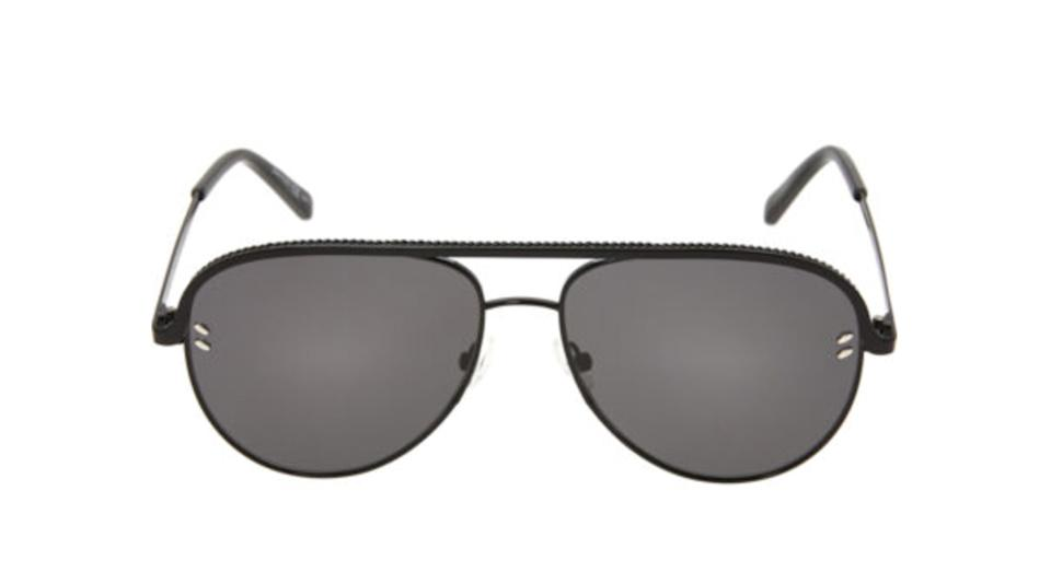 STELLA MCCARTNEY Black Aviator Sunglasses