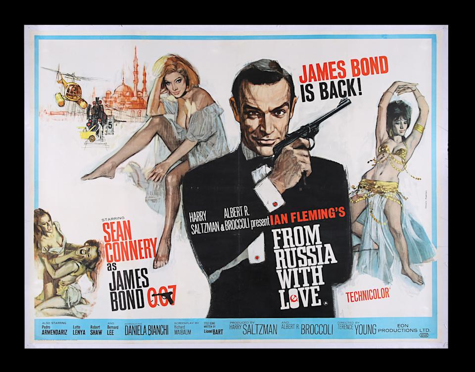 <p>JAMES BOND: FROM RUSSIA WITH LOVE (1963) - UK Quad, 1963 est. £5,000 - £6,000 (Prop Store)</p>