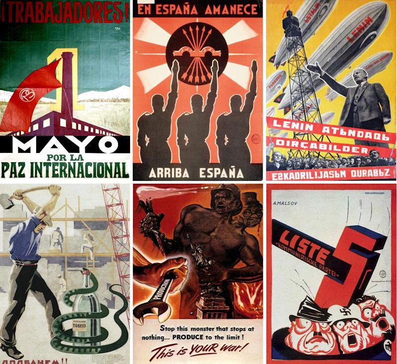 An international collection of propaganda posters from before and during the second world war.