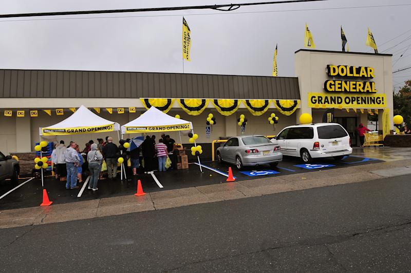 A Dollar General store opening in New Jersey.   Brian Killian—2009 Getty Images