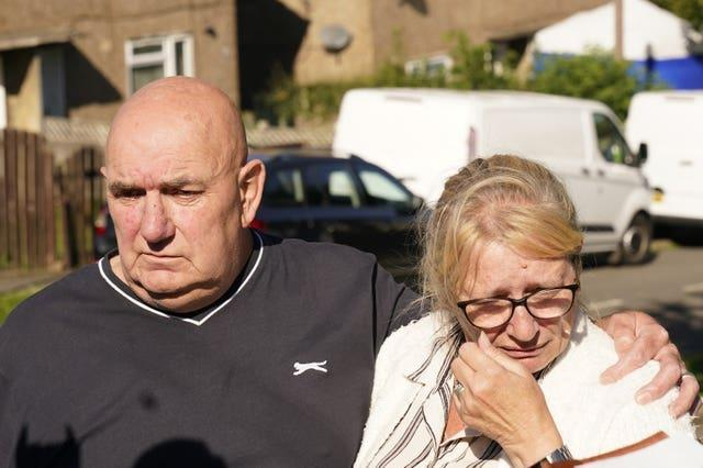 Debbie and Trevor Bennett, the grandparents of two of the victims
