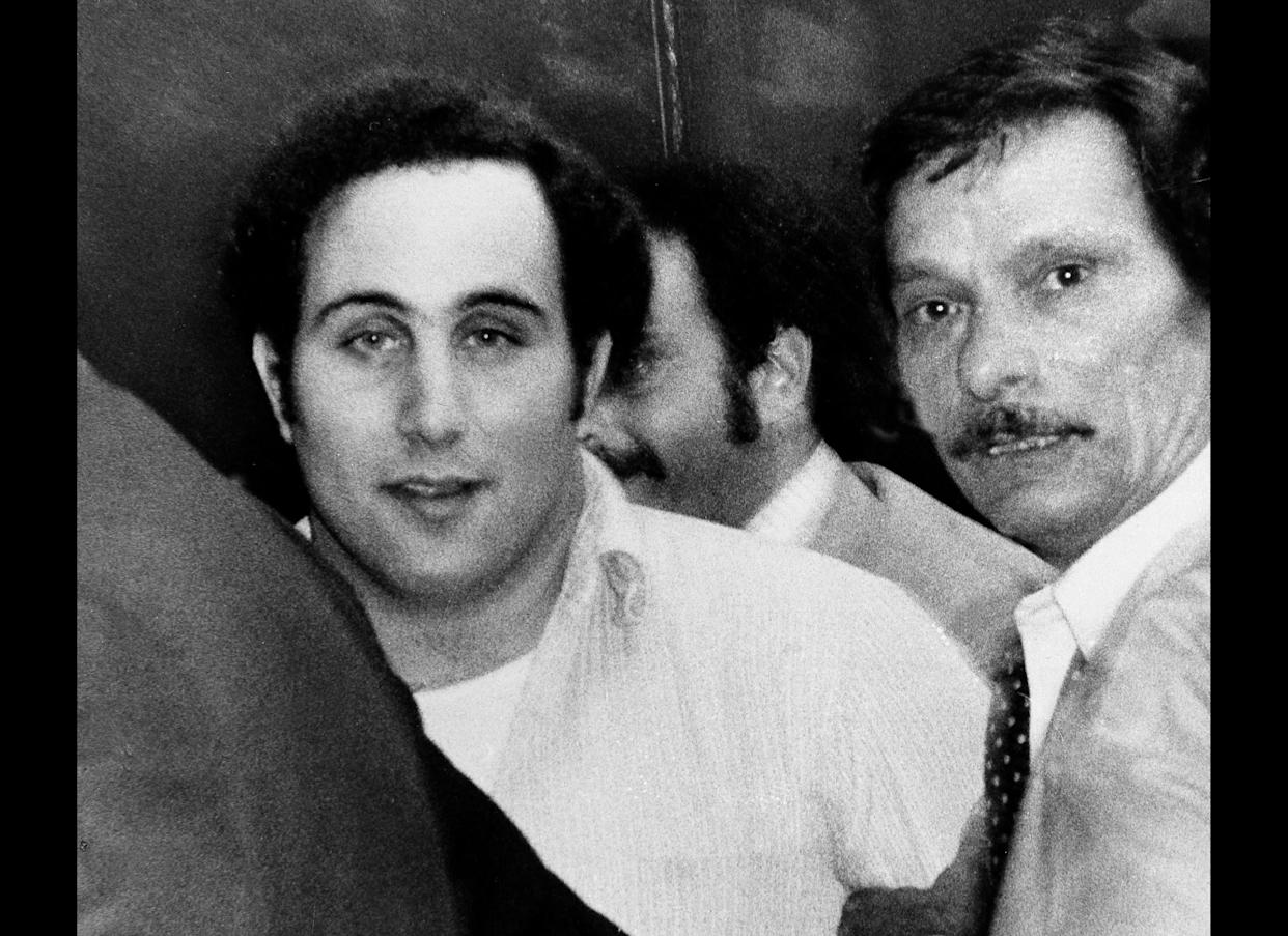 """David Berkowitz, the """"Son of Sam"""" killer, terrorized New York with six murders and several other shootings that ended with his 1977. When police arrested him, Berkowitz, a mailman, said his neighbor's dog commanded him to strike. He's in Sing Sing prison In New York serving life, though he's eligible for parole."""