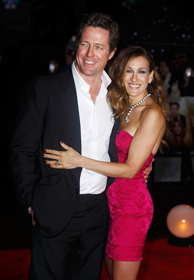 "<a href=""http://movies.yahoo.com/movie/contributor/1800019156"">Hugh Grant</a> and <a href=""http://movies.yahoo.com/movie/contributor/1800016083"">Sarah Jessica Parker</a> at the London premiere of <a href=""http://movies.yahoo.com/movie/1810079689/info"">Did You Hear About the Morgans?</a> - 12/08/2009"