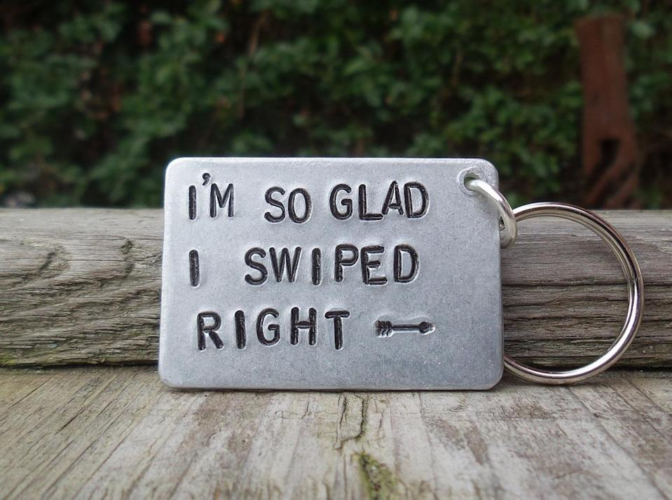<p>Anyone in a committed relationship will appreciate this <span>CoolKeyrings Keychain</span> ($18).</p>