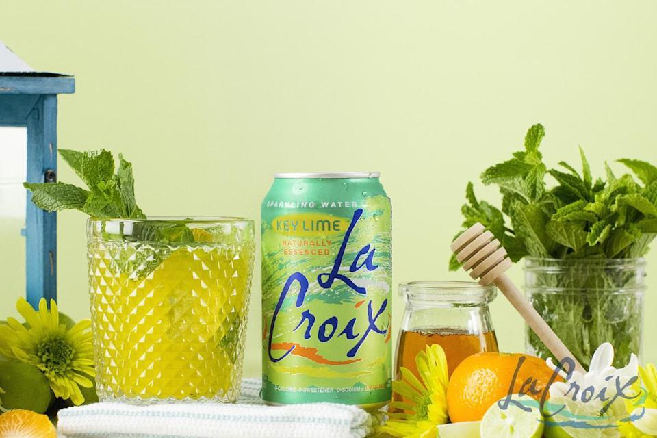 """<p>Using some of LaCroix's KeyLime sparkling water, this spritz is also made with clementine juice, a squeezed Key lime, mint and some of that <a href=""""https://www.thedailymeal.com/eat/grocery-shelf-life?referrer=yahoo&category=beauty_food&include_utm=1&utm_medium=referral&utm_source=yahoo&utm_campaign=feed"""" rel=""""nofollow noopener"""" target=""""_blank"""" data-ylk=""""slk:super long-lasting"""" class=""""link rapid-noclick-resp"""">super long-lasting</a> honey you have in the cupboard.</p> <p><a href=""""https://www.thedailymeal.com/recipes/key-lime-clementine-spritz-mocktail-lacroix?referrer=yahoo&category=beauty_food&include_utm=1&utm_medium=referral&utm_source=yahoo&utm_campaign=feed"""" rel=""""nofollow noopener"""" target=""""_blank"""" data-ylk=""""slk:For the KeyLime Clementine Spritz recipe, click here."""" class=""""link rapid-noclick-resp"""">For the KeyLime Clementine Spritz recipe, click here.</a></p>"""
