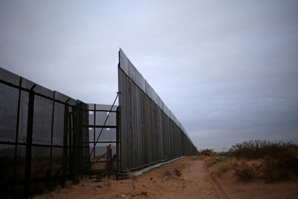 The new section of the bollard-type border wall erected in New Mexico, U.S., is seen from the Mexican side of the border (Photo: REUTERS)