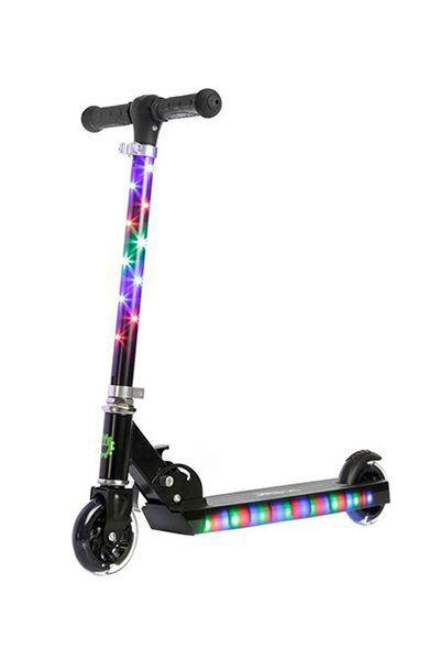 """<p>$30 </p><p><a rel=""""nofollow noopener"""" href=""""https://www.target.com/p/jetson-jupiter-scooter-with-led-lights-black/-/A-52298683"""" target=""""_blank"""" data-ylk=""""slk:SHOP NOW"""" class=""""link rapid-noclick-resp"""">SHOP NOW</a><br></p><p>A bright, futuristic-looking scooter is a gift for the birthday kid <em>and </em>Mom or Dad, since it'll help parents spot the rider from all the way down the block. </p>"""