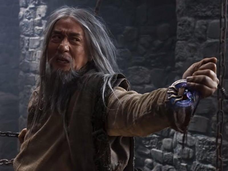 Jackie Chan plays a scraggly bearded prisoner, housed in the Tower of London, in 'The Iron Mask'