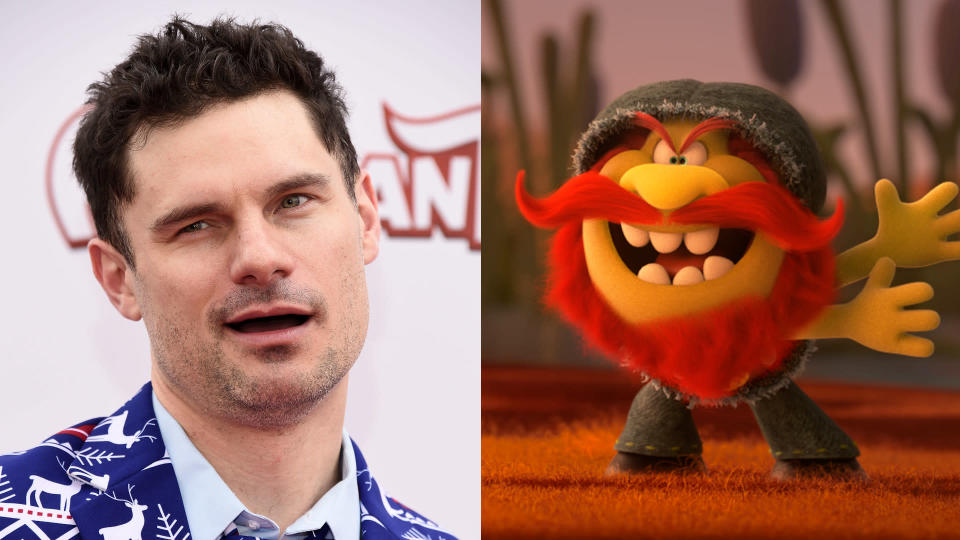 Flula Borg voices yodelling troll Dickory in 'Trolls World Tour'. (Credit: Amanda Edwards/WireImage/Universal)