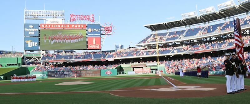 Nationals Park, field side view.