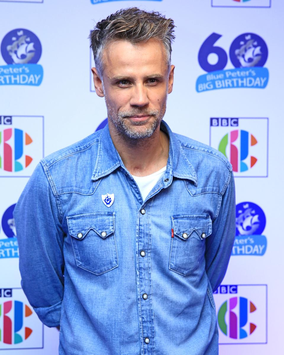 Richard Bacon attends Blue Peter's Big Birthday, celebrating the show's 60th anniversary, at the BBC Philharmonic Studio at Media City UK, Salford.
