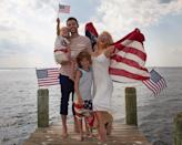 """<p>Christina Aguilera and her husband, Matthew Rutler, are doing the Fourth of July right. The former <em>Voice</em> coach shared a festive family photo with her husband and their two kids, Max and Summer. (Photo: Christina Aguilera <a rel=""""nofollow noopener"""" href=""""https://www.instagram.com/p/BWIT0bqgFIl/"""" target=""""_blank"""" data-ylk=""""slk:via Instagram"""" class=""""link rapid-noclick-resp"""">via Instagram</a>)<br><br></p>"""