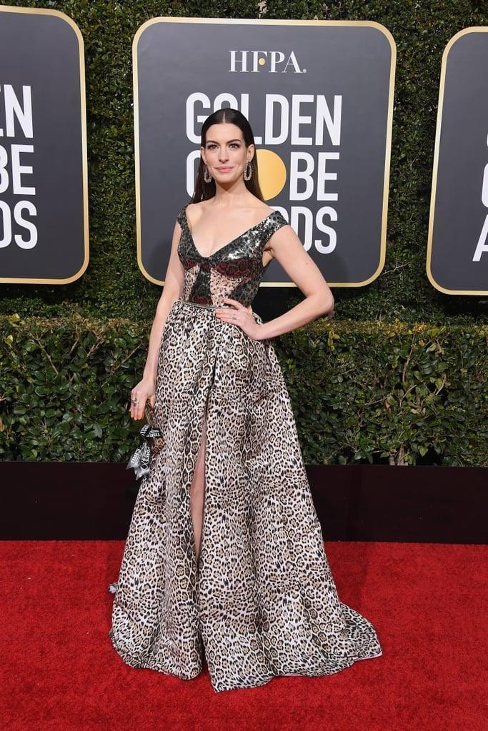 <p>Wearing an Elie Saab dress with Lorraine Schwartz jewels, a Jimmy Choo bag, and Olgana Paris shoes at the 2019 Golden Globes.</p>