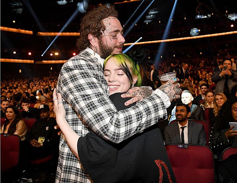 Post Malone and Billie Eilish | Kevin Mazur/Getty Images