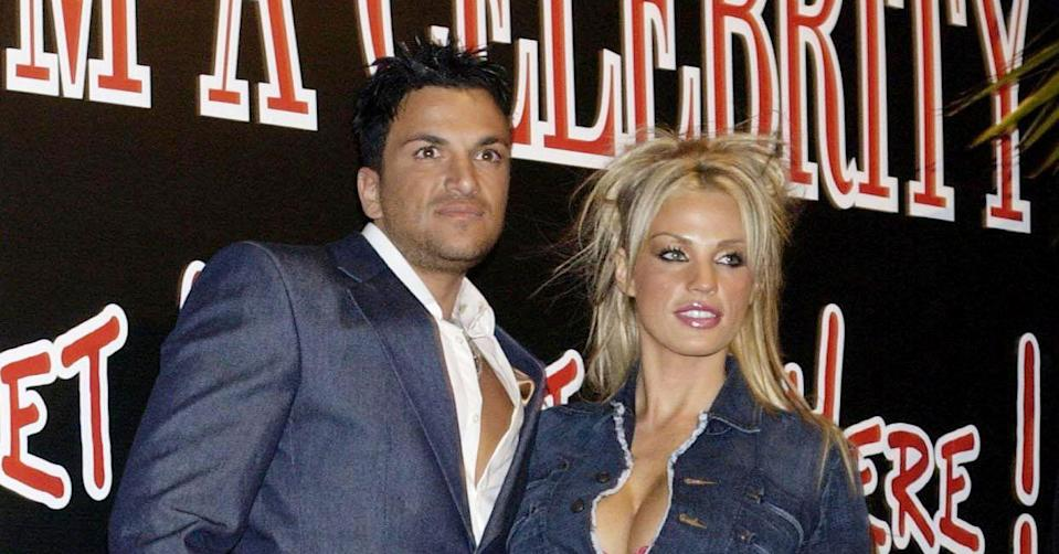Katie Price and Peter Andre in 2004