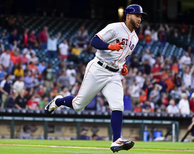 George Springer's big home run in the late innings helped the Astros early in the year. (AP Photo/Eric Christian Smith)