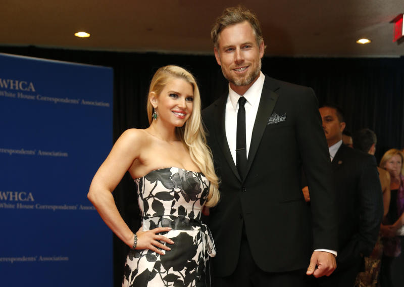 """Simpson calls husband Eric Johnson (pictured with her in 2014) """"the superstar in my life."""" (Photo: REUTERS/Jonathan Ernst)"""