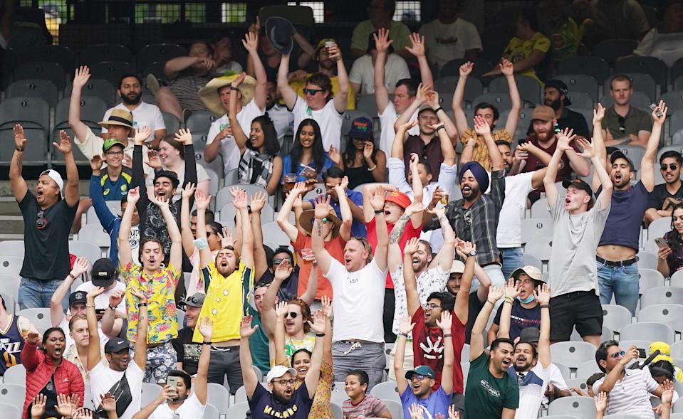 There were more than 23,000 fans at the MCG on December 27. Source: AAP