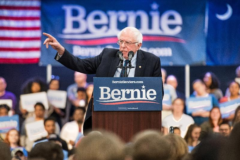 Bernie Sanders, the liberal senator who made campaign finance reform a central pillar of his rebellious 2016 presidential campaign, entered the 2020 race in February with a bang, raising $5.9 million in the first 24 hours (AFP Photo/Sean Rayford)