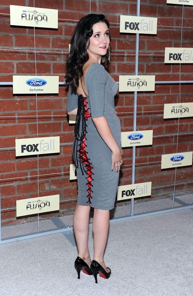"Shannon Woodward (""Raising Hope"") attends Fox's Fall 2012 Eco-Casino party at The Bookbindery on September 10, 2012 in Culver City, California."