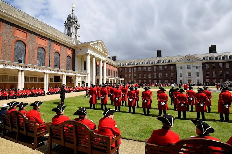 General view as Britain's Prince Harry reviews Chelsea Pensioners during the Founder's Day Parade at the Royal Hospital Chelsea in London, Britain June 6, 2019. REUTERS/Toby Melville