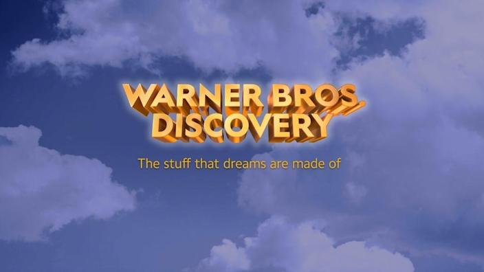 The Warner Bros. Discovery logo.