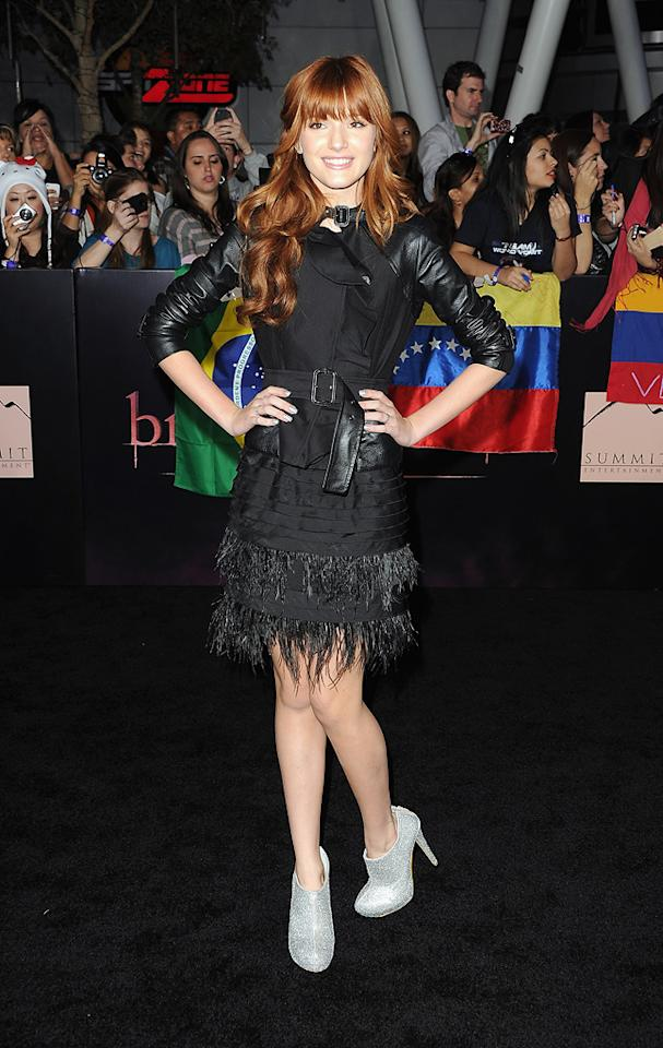 "Bella Thorne at the Los Angeles premiere of <a href=""http://movies.yahoo.com/movie/1810158314/info"">The Twilight Saga: Breaking Dawn - Part 1</a> on November 14, 2011."