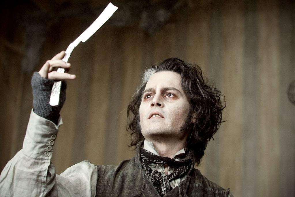 """3. Sweeney Todd in """"Sweeney Todd: The Demon Barber of Fleet Street."""" The role of a murderous barber in the 2007 film required Depp to sing. He and the rest of the cast also also had to audition for Stephen Sondheim, who produced the score for the 1979 Broadway production of Sweeney Todd. """"I really didn't know if I could pull it off, which is why I said to Tim [Burton] that I was going to go off and try some stuff,"""" Depp told the U.K.'s Daily Mail. """"I went to a buddy's little garage studio and I started to record the songs to see if I could get over the initial fear of that type of exposure. So I did that and sent it to Tim and he felt we were OK. I started to get more confident, but then the idea of me standing in front of a guy at a piano singing scales seemed against my instinct. It said, 'This is wrong. It doesn't matter if you know how to sing. Just sing.' So that's what I did. Although Sondheim was probably weeping after that performance."""" Depp ended up receiving an Oscar nomination for his performance."""
