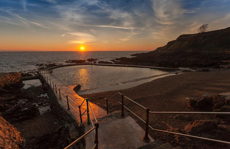 Take a sunset dip in one of The Islands of Guernsey's most tranquil bathing spots, the 150-year-old La Vallette Bathing Pools.