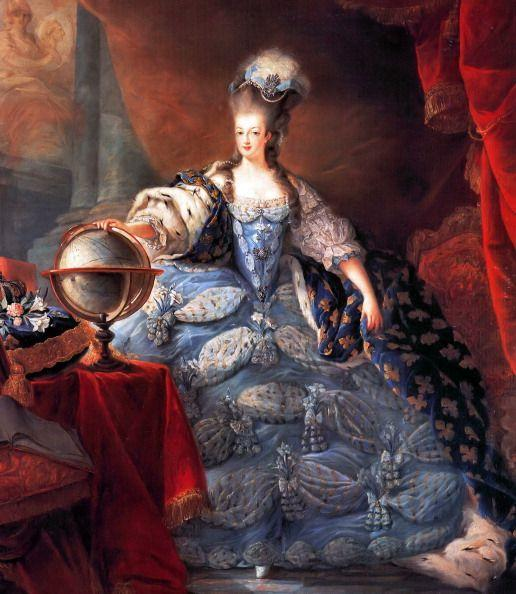 <p>In contrast to what was happening in the New World, European royals piled on the pageantry. Case in point: Marie Antoinette models a frock during a time when fashion was at peak opulence. The dresses were big, the designs were elaborate, and the hair was high. Of course, this was just within court—hence the French Revolution. </p>