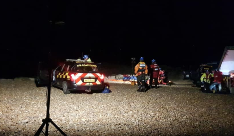 The people had been cut off by the tides and then tried to climb the mud banks, coastguards said (Picture: Facebook/Southbourne Coastguard)